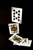 Poker straight flush Royalty Free Stock Image