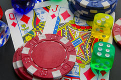 Poker stuff Royalty Free Stock Image