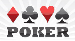 Poker suit illustration design. Poker suit background illustration design Royalty Free Stock Image