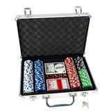 Poker suitcase Stock Image