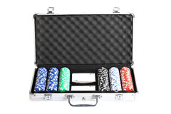 Poker suitcase Royalty Free Stock Images