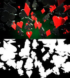 Poker Suits Abstract Background Royalty Free Stock Photos