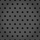 Poker suits metallic gray  background. Casino style Stock Photo