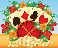 Poker summer card Stock Images