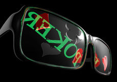 Poker sunglasses Stock Photos