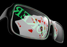 Poker sunglasses card Stock Image