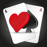 Poker symbols and cards Royalty Free Stock Photo