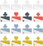 Poker symbols flat design Stock Images