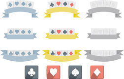Poker symbols isolated Stock Photo