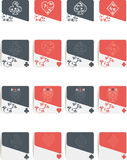 Poker symbols isolated Royalty Free Stock Photography