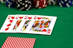 Poker-Szene Stockbilder