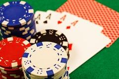 Poker-Szene Stockfoto