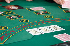 Poker table royalty free stock photos