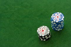 Poker Table Royalty Free Stock Image