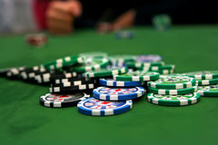 Poker Table Stock Photography