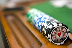 Poker Table Royalty Free Stock Photo