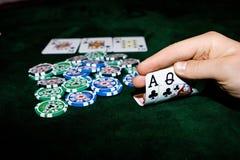 Poker table Royalty Free Stock Photo