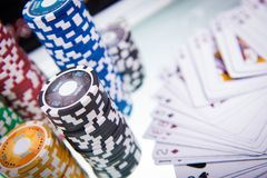 Poker Table Royalty Free Stock Images