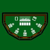 Poker Table Icon Stock Photo