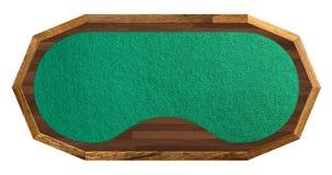 Poker table isolated on white Stock Photos