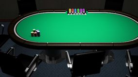 Poker table room stock video