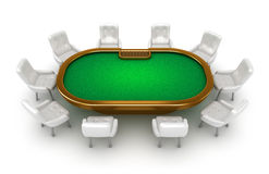 Free Poker Table With Chairs Top View Royalty Free Stock Photography - 23126977