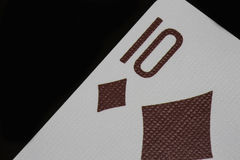 Poker of tens casino playing cards macro diamonds royalty free stock photography