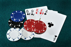 poker texas arkivfoto