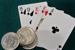 poker texas royaltyfri bild