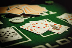 Poker texas holdem. Omaha, casino Stock Image