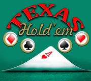 Poker texas rymmer dem Royaltyfri Bild