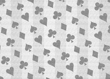 Poker texturized pattern. Poker shapes background in grey Royalty Free Stock Image