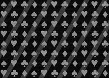 Poker texturized pattern. Poker shapes background in black Stock Photos