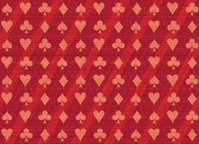 Poker texturized pattern. Poker shapes background in red Royalty Free Stock Image