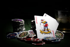 Poker theme royalty free stock images
