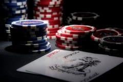 Poker theme royalty free stock photos