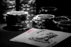Poker theme Stock Image