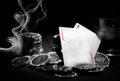 Poker theme Royalty Free Stock Photography