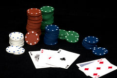 Poker Three of a Kind Royalty Free Stock Photos