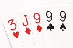 Poker - three of a kind Royalty Free Stock Photos