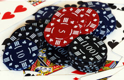 Poker tokens stock photography