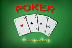 Poker tournament Royalty Free Stock Image