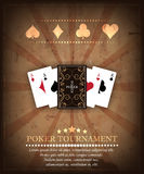Poker tournament  background Royalty Free Stock Photo