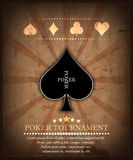 Poker tournament  background Stock Photography