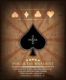 Poker tournament  background Stock Photography