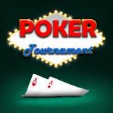 Poker tournament Royalty Free Stock Photos
