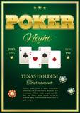 Poker Tournament Poster Royalty Free Stock Photos