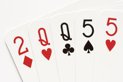 Poker - two pair Stock Image