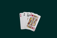 Poker two pairs. Pokertwo pairs on a dark background Stock Images