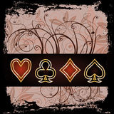 Poker vintage wallpaper Royalty Free Stock Photo